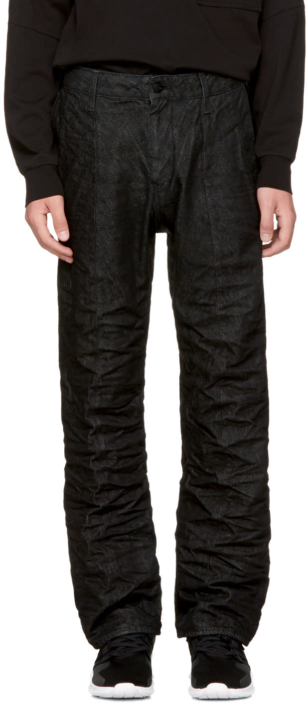 Image of Raw Research Black Lanc Chino Jeans