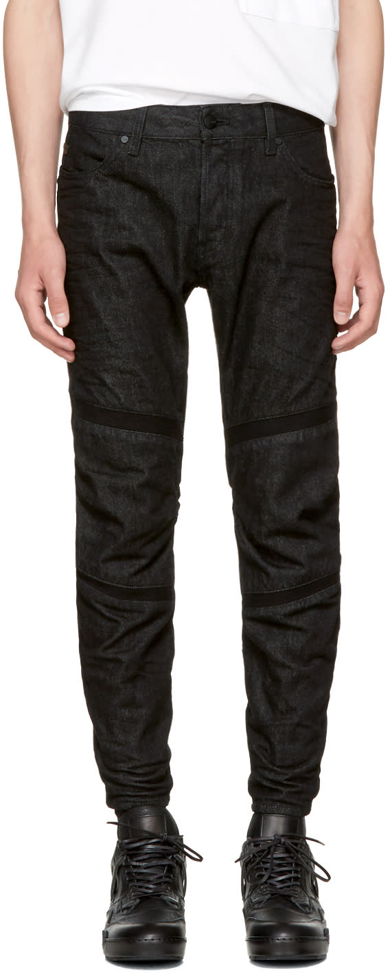 Image of Raw Research Black Motac 3d Jeans