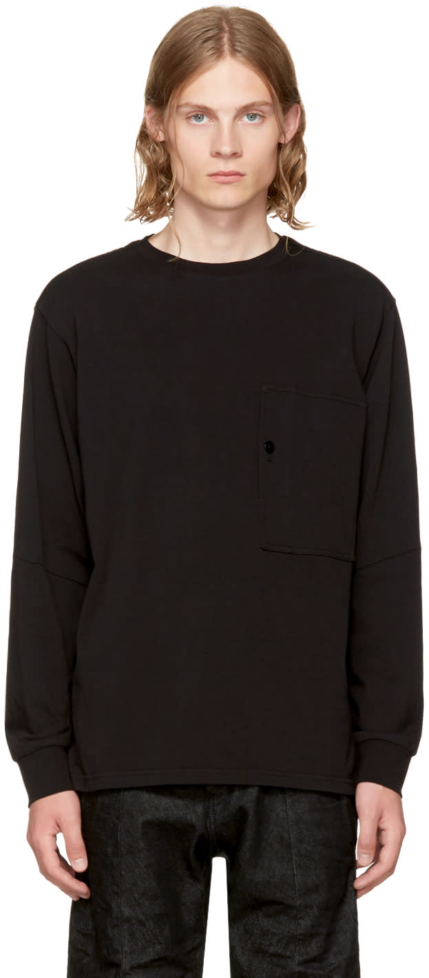 Image of Raw Research Black Long Sleeve Stalt T-shirt