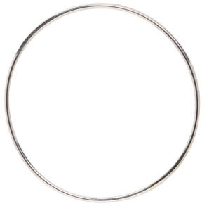 Image of Saskia Diez Silver Bold Wire Hoop Earring