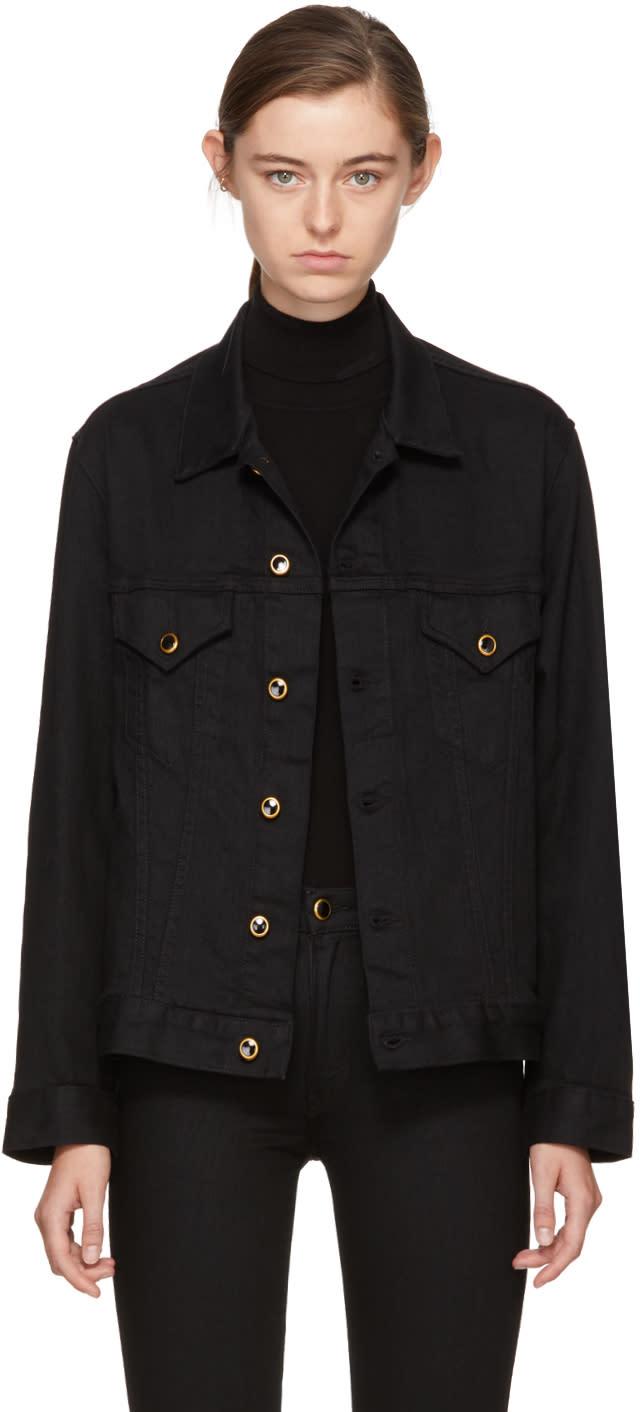 Image of Khaite Black Denim Cate Jacket
