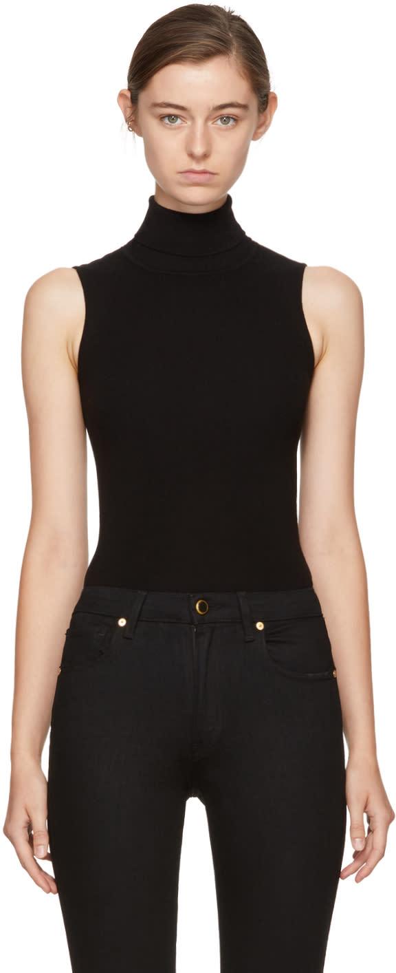 Image of Khaite Black Hadley Turtleneck Bodysuit
