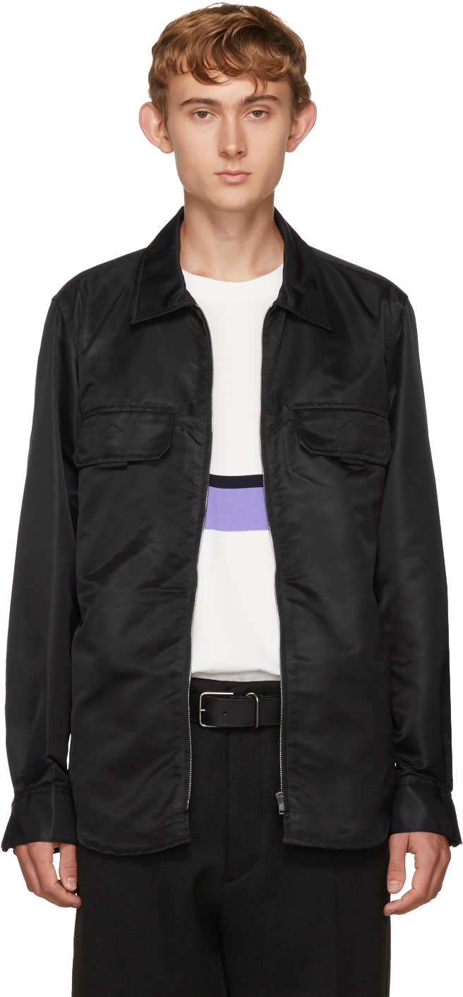 Image of Childs Black Zip Front Overshirt