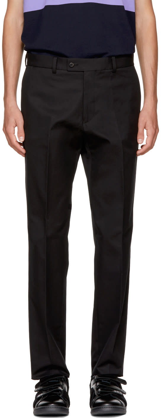 Image of Childs Black Classic Cut Trousers