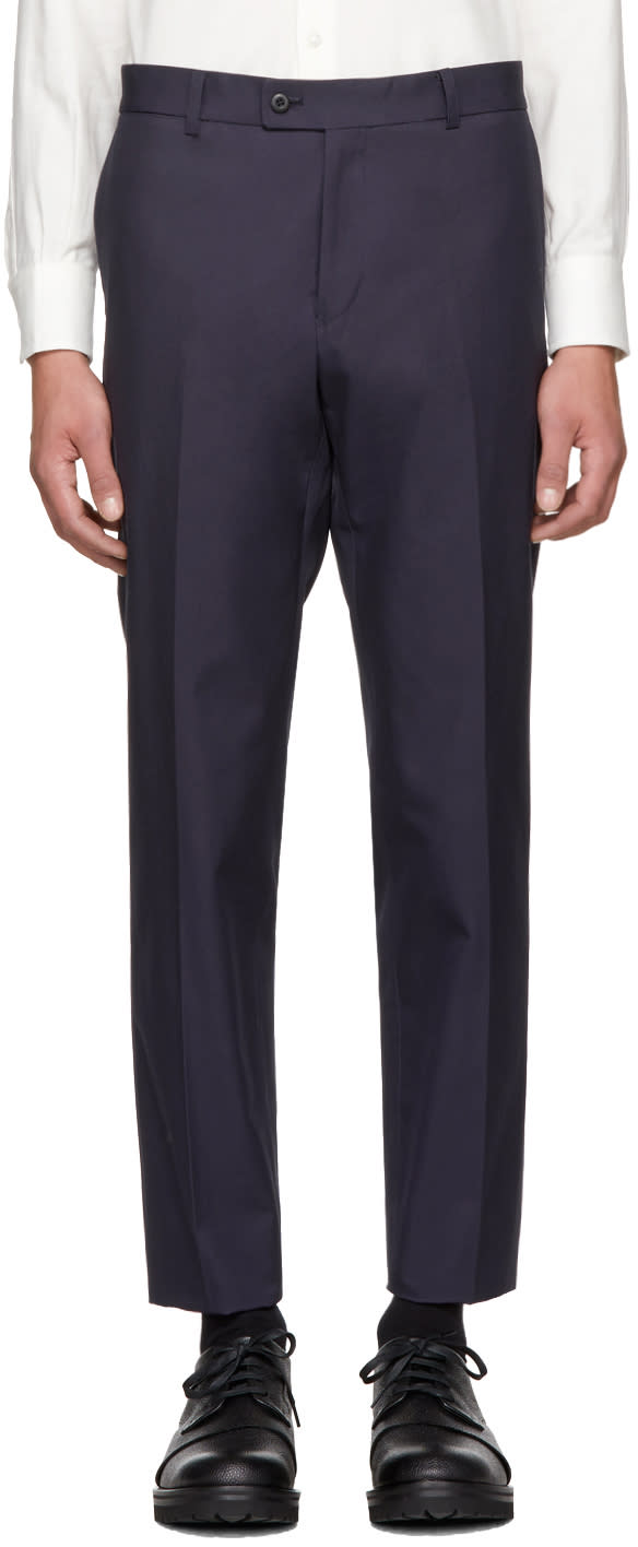 Image of Childs Navy Classic Cut Trousers