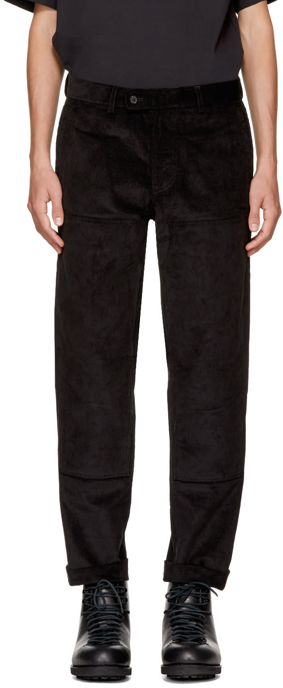 Image of Childs Black Wrapped Knee Work Trousers