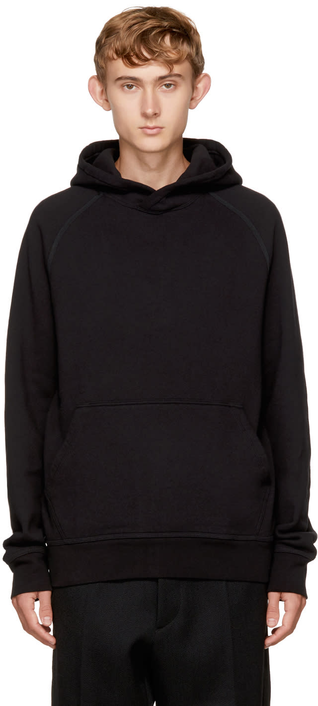 Image of Childs Black Kangaroo Hoodie