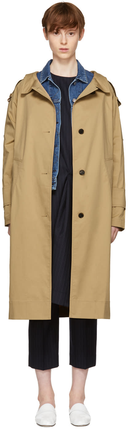 Image of Kuho Beige Funis Trench Coat