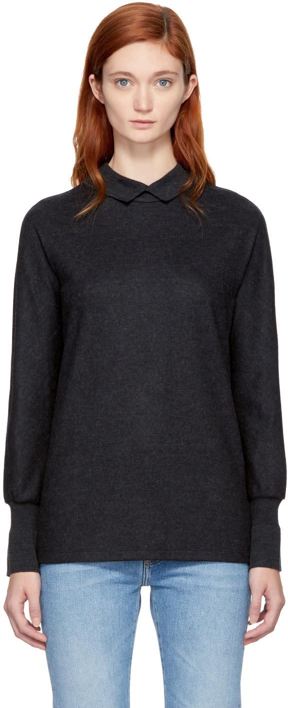 Image of Kuho Grey Long Sleeve Thiene T-shirt