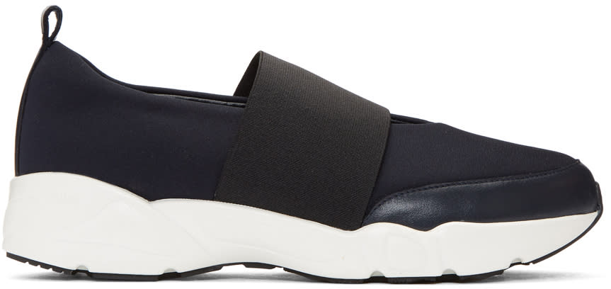 Image of Kuho Navy E-band Slip-on Sneakers