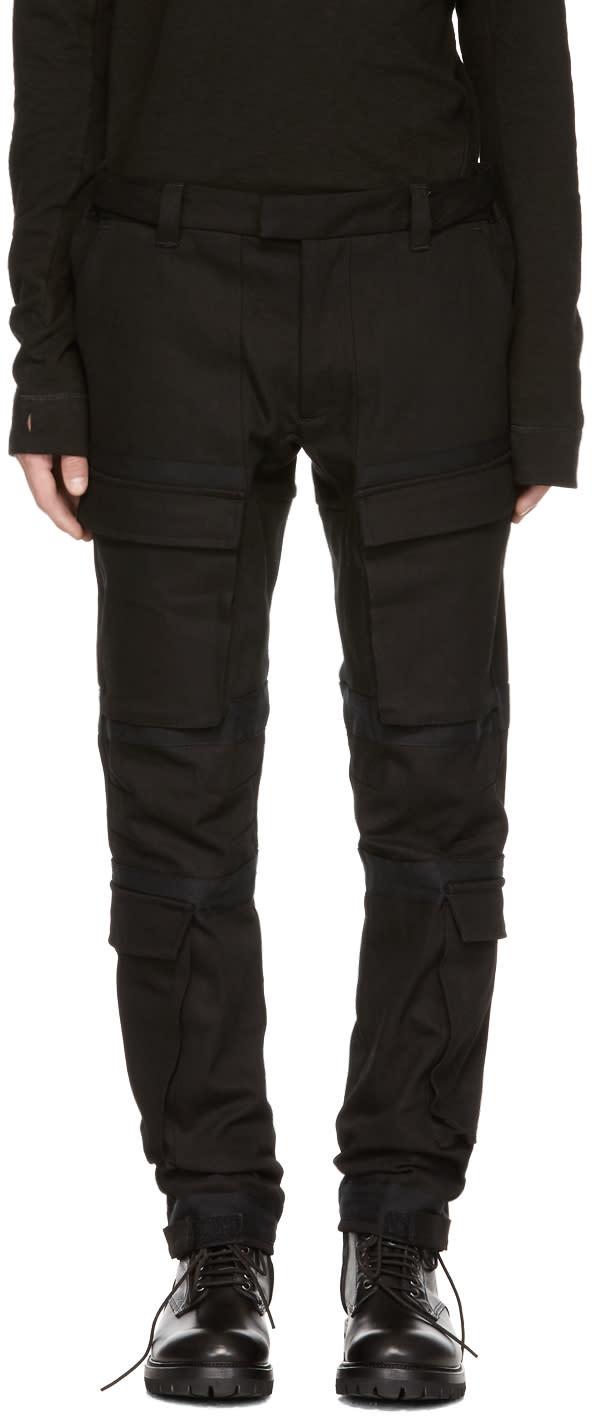 Image of Abasi Rosborough Black Tactical Cargo Pants