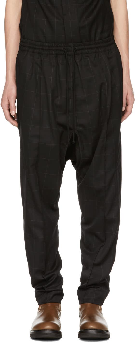 Image of Abasi Rosborough Black Ankara Trousers