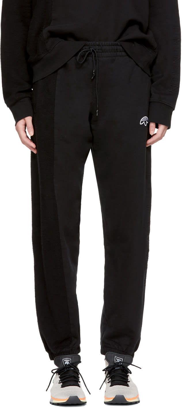 Image of Adidas Originals By Alexander Wang Black Inout Jog Ii Sweatpants