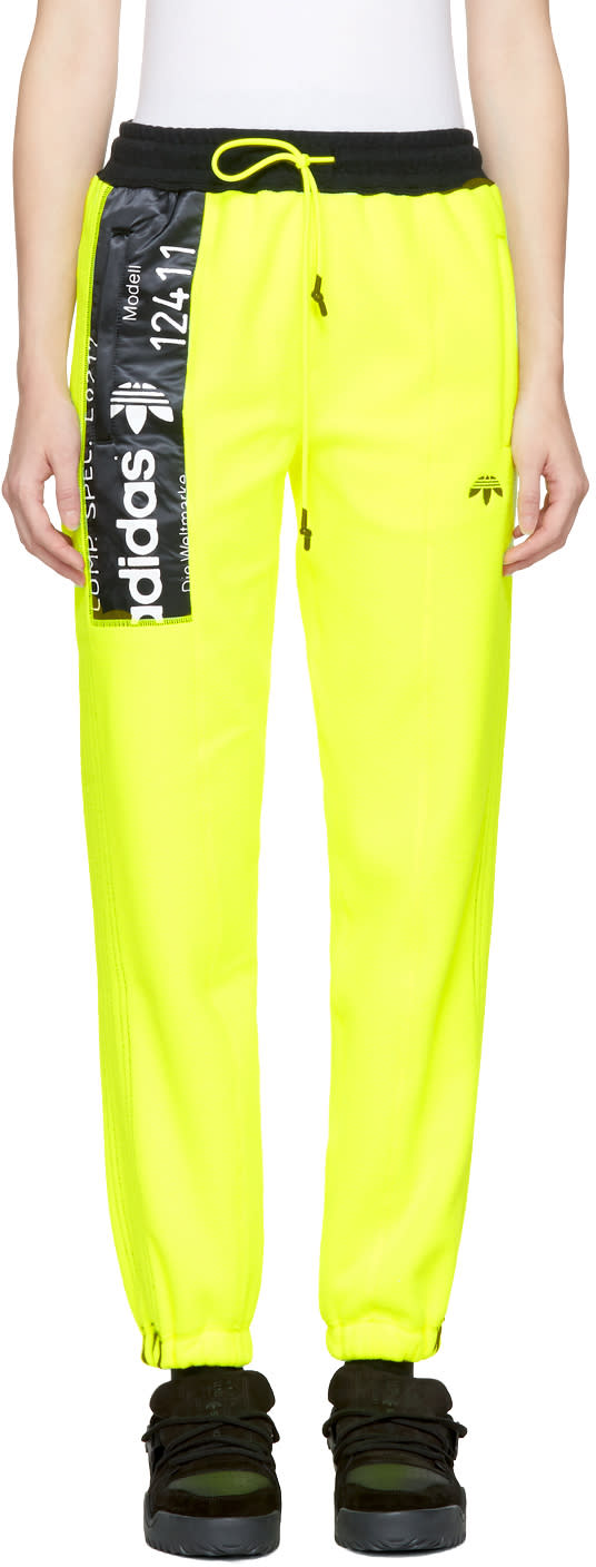 Adidas Originals By Alexander Wang Pantalon De Survêtement En Molleton Polaire Jaune