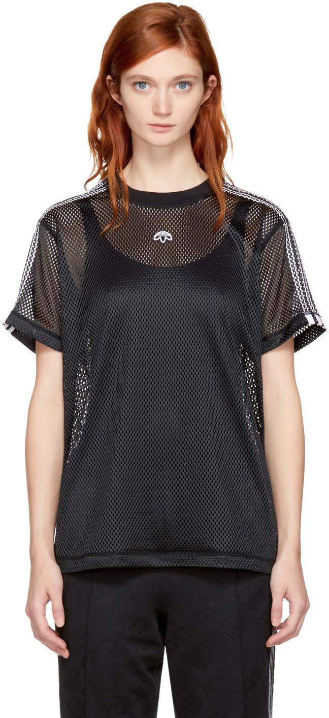 Image of Adidas Originals By Alexander Wang Black Aw Mesh T-shirt
