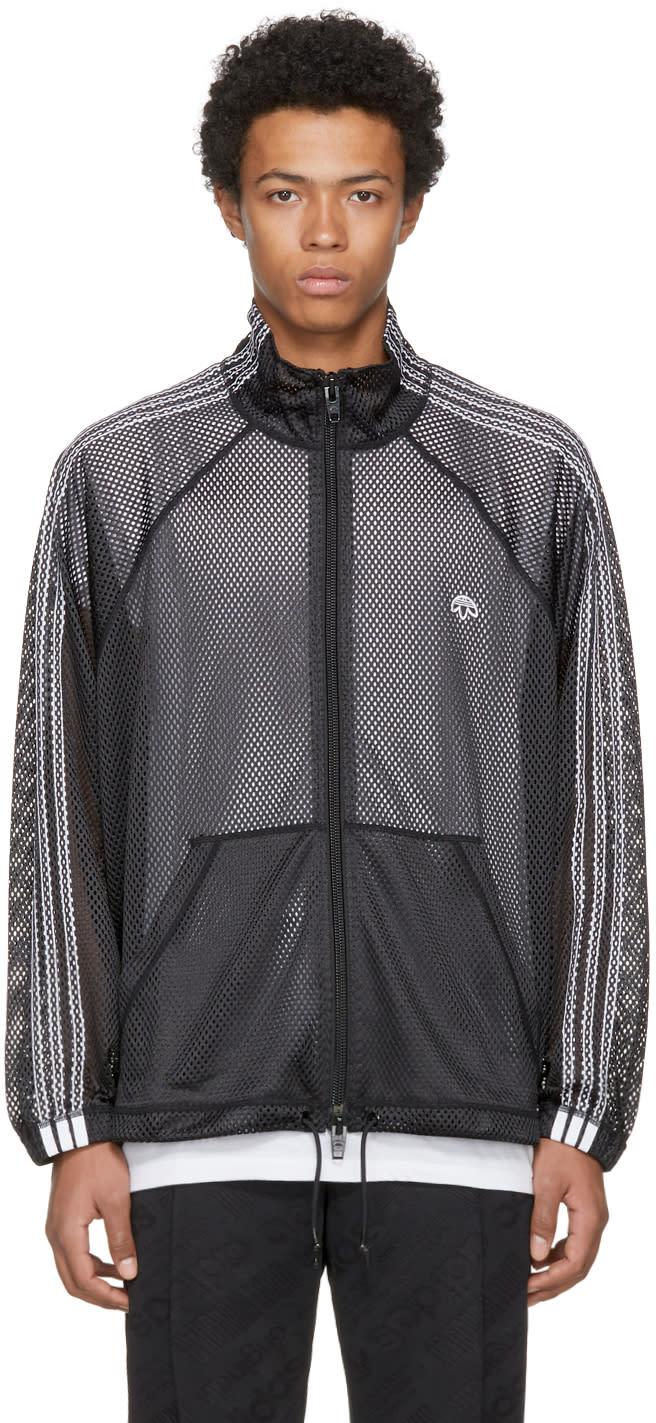 Image of Adidas Originals By Alexander Wang Black Aw Mesh Track Jacket