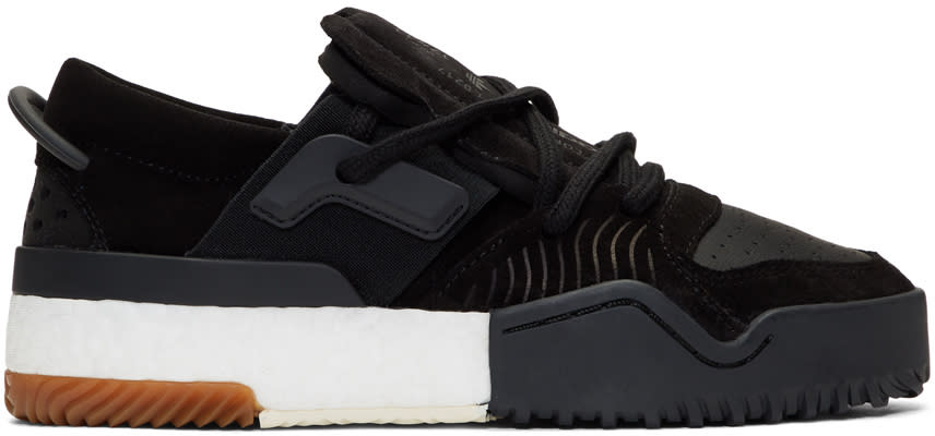 Adidas Originals By Alexander Wang Black Aw Bball Lo Sneakers