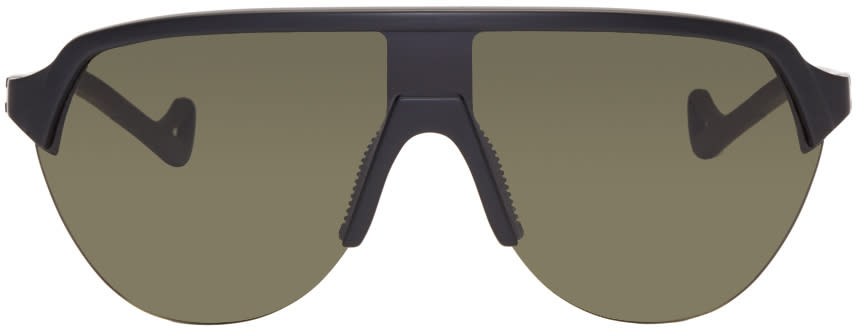 Image of District Vision Black and Green Nagata Sunglasses