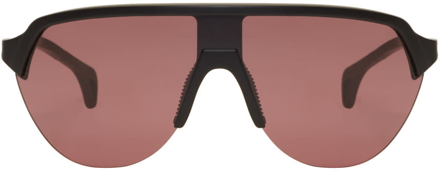 Image of District Vision Black and Pink Nagata Sunglasses
