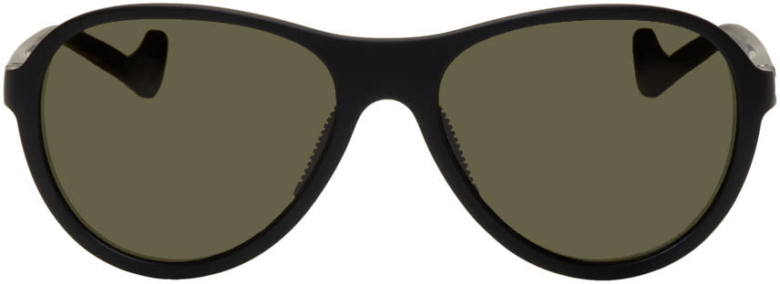 Image of District Vision Black and Green Kaishiro Sunglasses