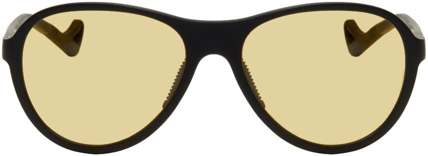 Image of District Vision Black and Yellow Kaishiro Sunglasses