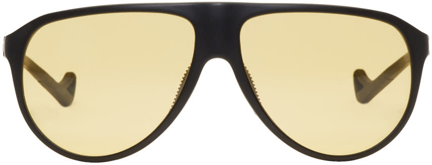 Image of District Vision Black and Yellow Yukari Sunglasses