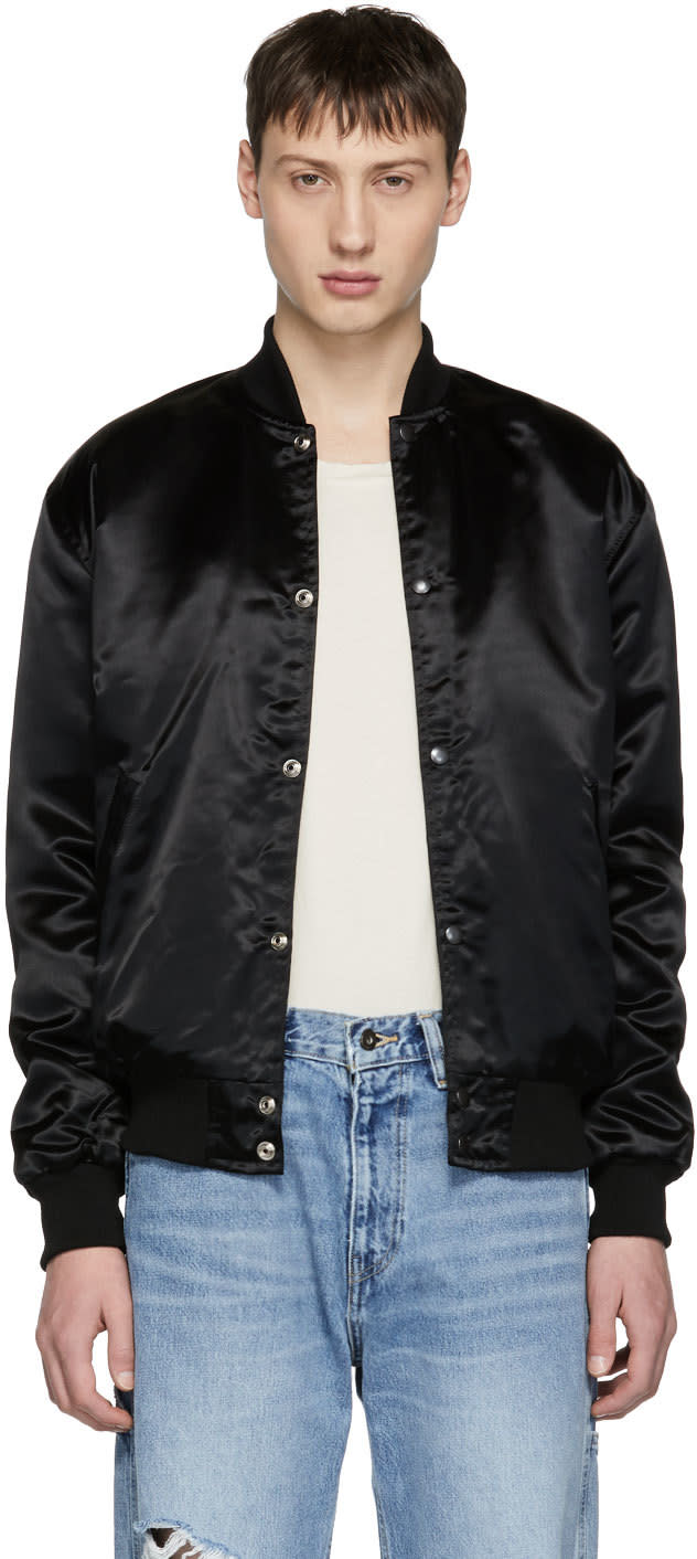 Image of Rhude Black Essential Rhestarter Bomber Jacket