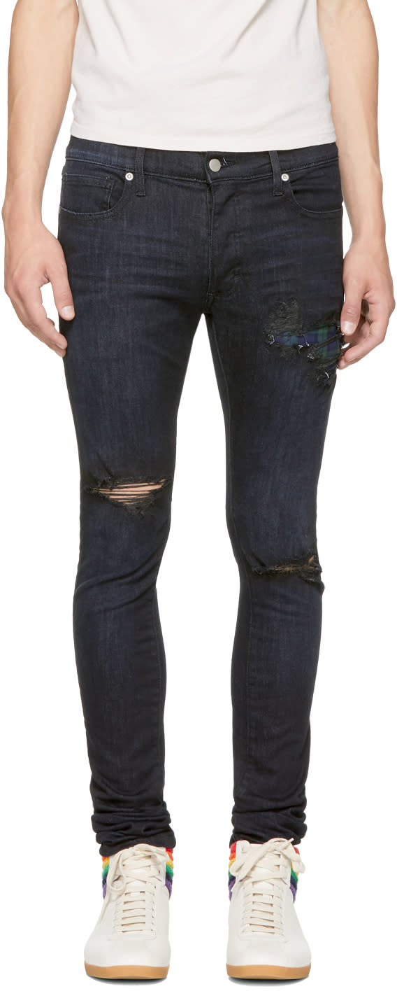 Image of Rhude Ssense Exclusive Black Boxer Jeans