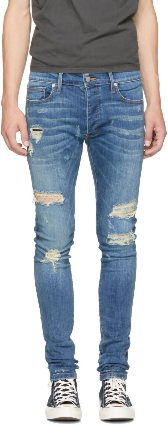 Image of Rhude Blue Rhamone Jeans