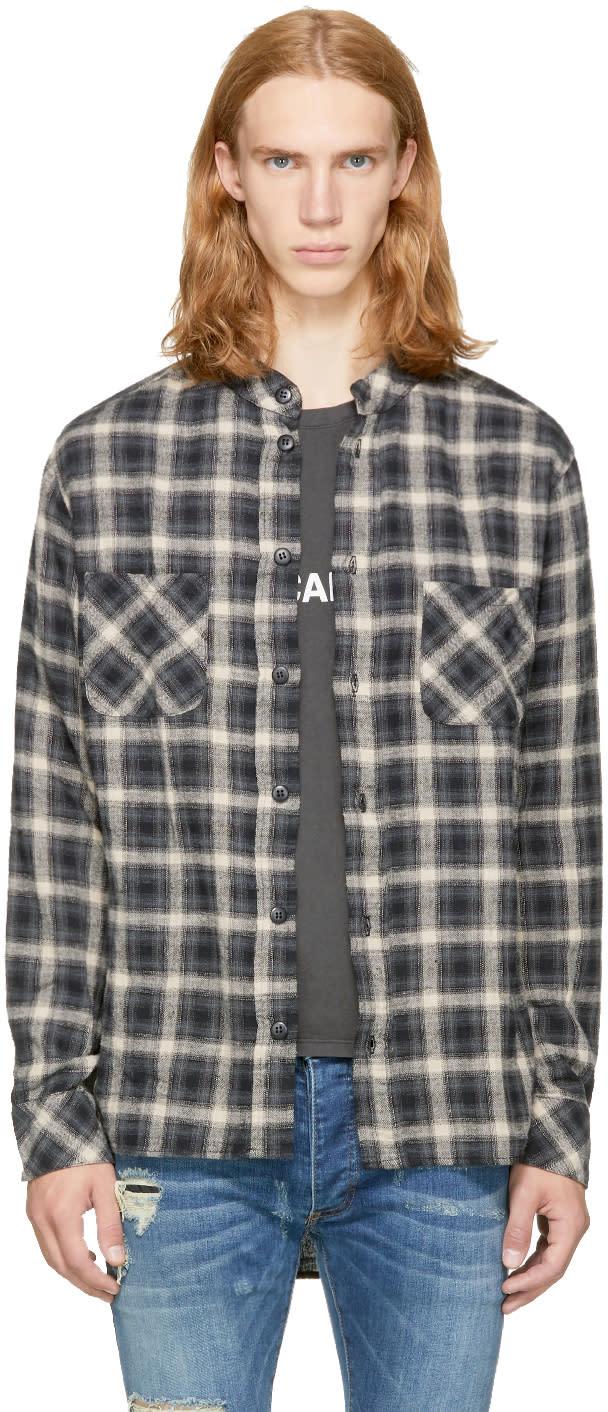 Image of Rhude Grey Check Rhider Shirt