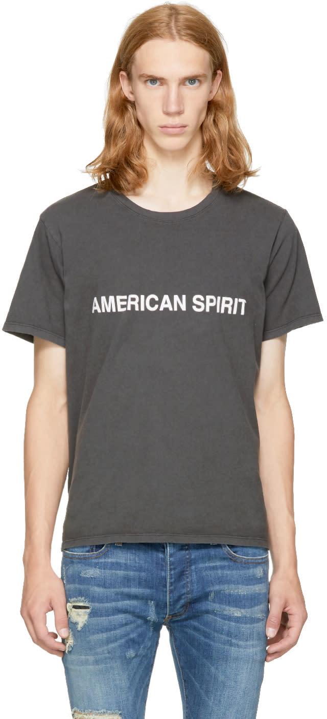 Image of Rhude Black american Spirit T-shirt