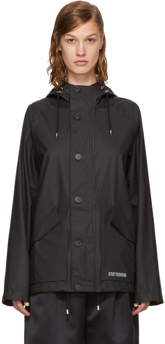 Image of Stutterheim Black Stenhamra Rain Jacket