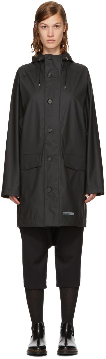 Image of Stutterheim Black Ekeby Raincoat