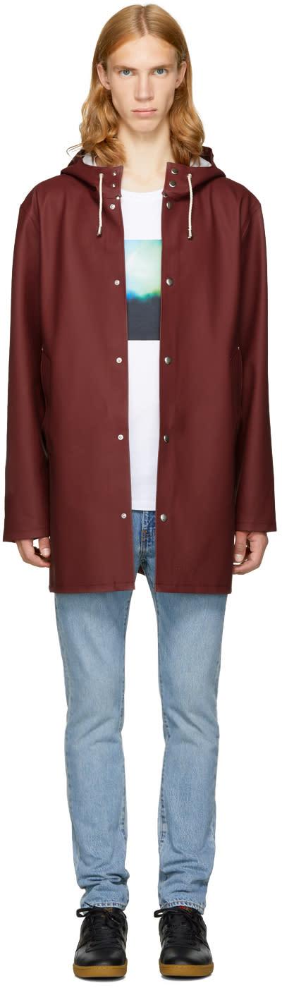 Image of Stutterheim Burgundy Stockholm Raincoat