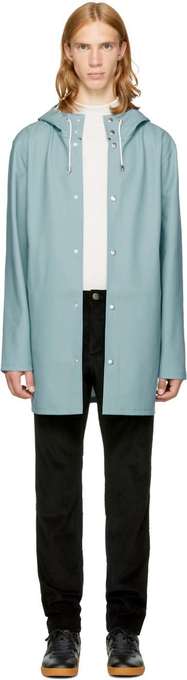 Image of Stutterheim Blue Stockholm Raincoat