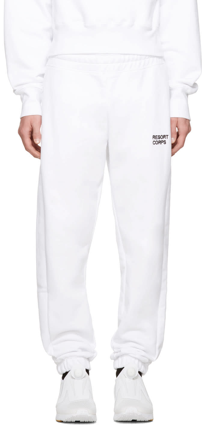 Image of Resort Corps Ssense Exclusive White Survetement Lounge Pants