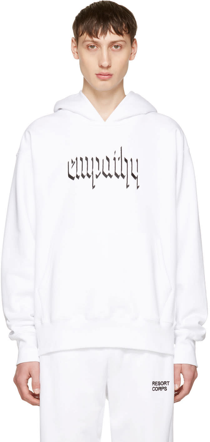 Resort Corps Ssense Exclusive White empathy Hoodie