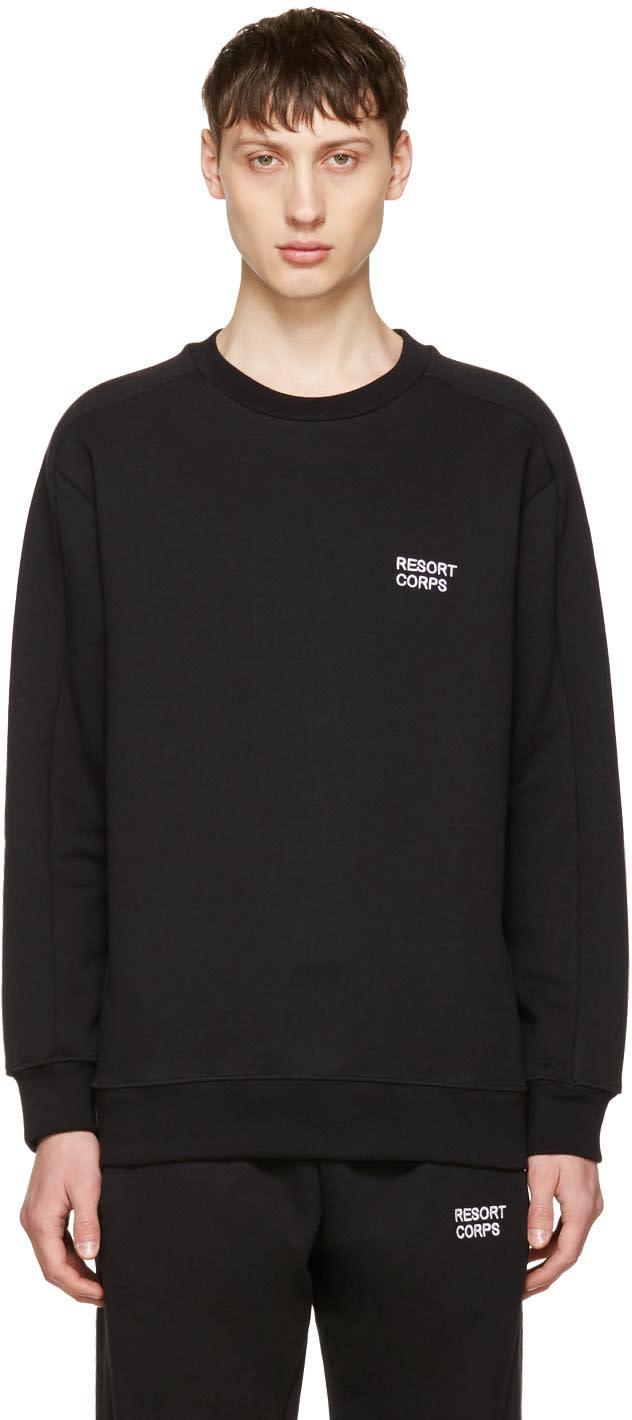 Image of Resort Corps Black Survetement Sweatshirt