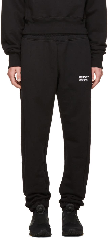 Image of Resort Corps Black Survetement Lounge Pants