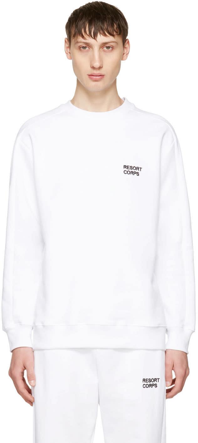 Image of Resort Corps Ssense Exclusive White Survetement Sweatshirt