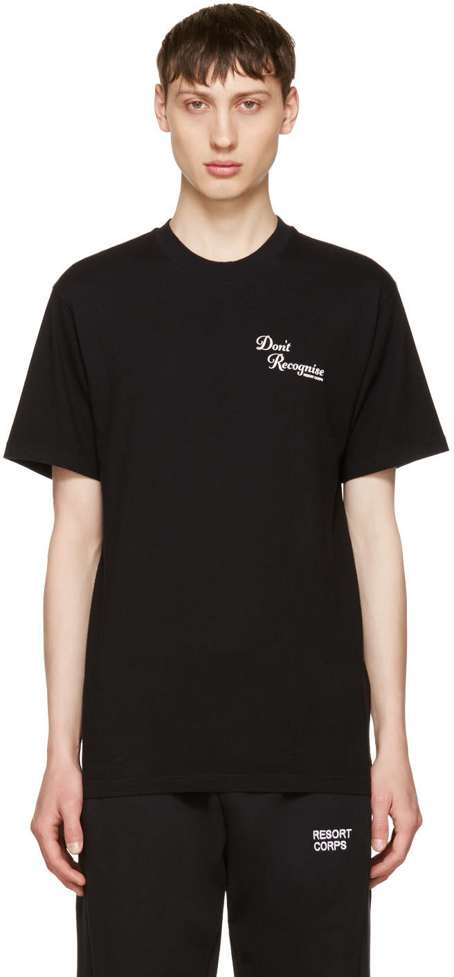 Resort Corps Black dont Recognise T-shirt