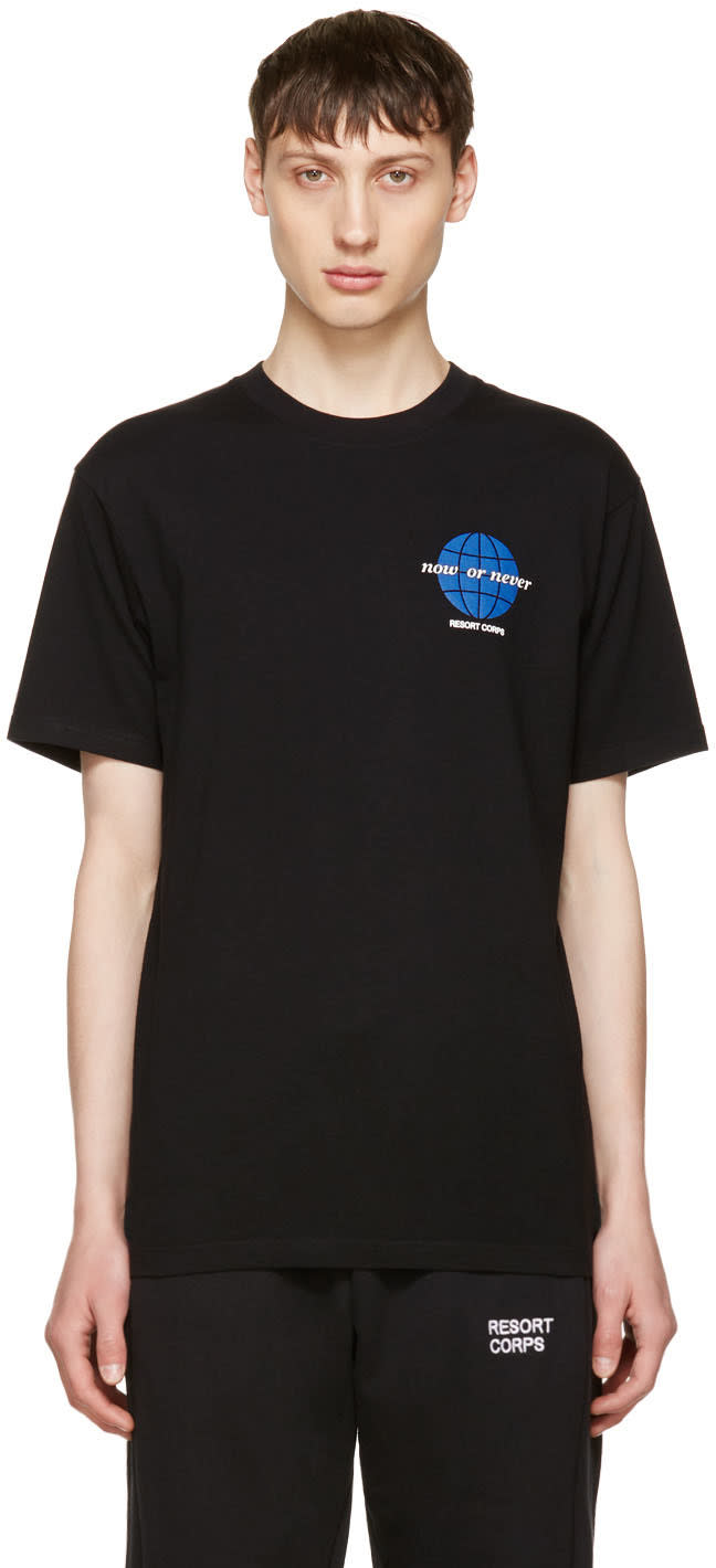 Resort Corps Black now Or Never T-shirt