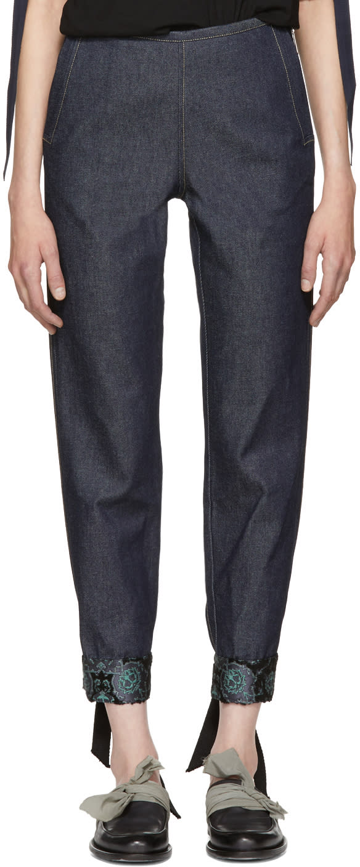 Image of Ovelia Transtoto Indigo Cuffed Jeans