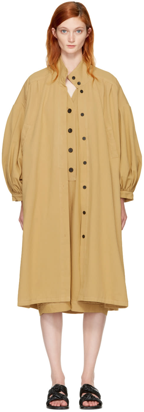 Image of 69 Tan Denim Classic Coat