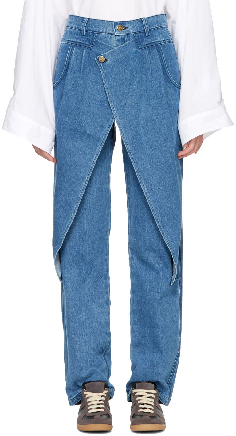 Image of 69 Blue Front Flap Jeans