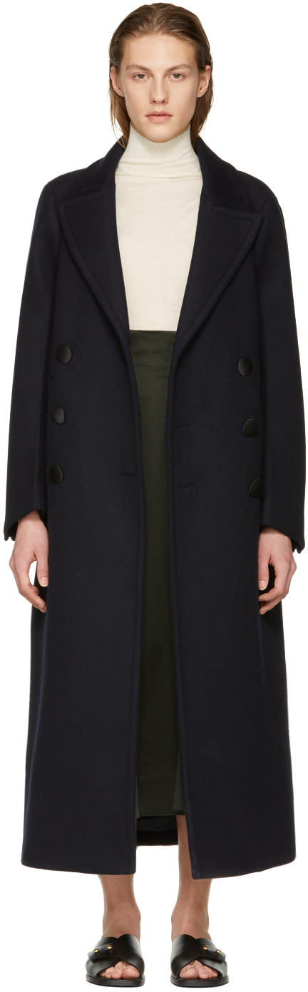Joseph Navy Wool Coat