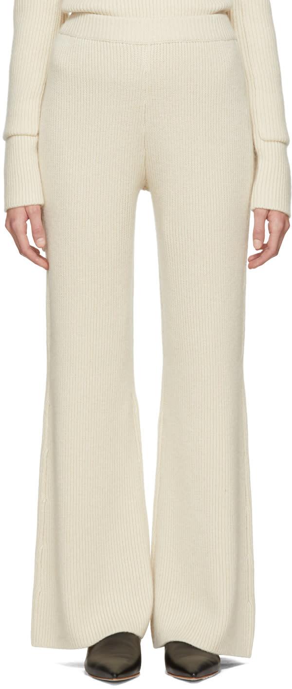 Image of Joseph Ecru Cashmere Lounge Pants