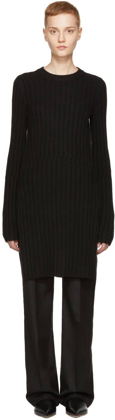 Image of Joseph Black Rib Wool Dress