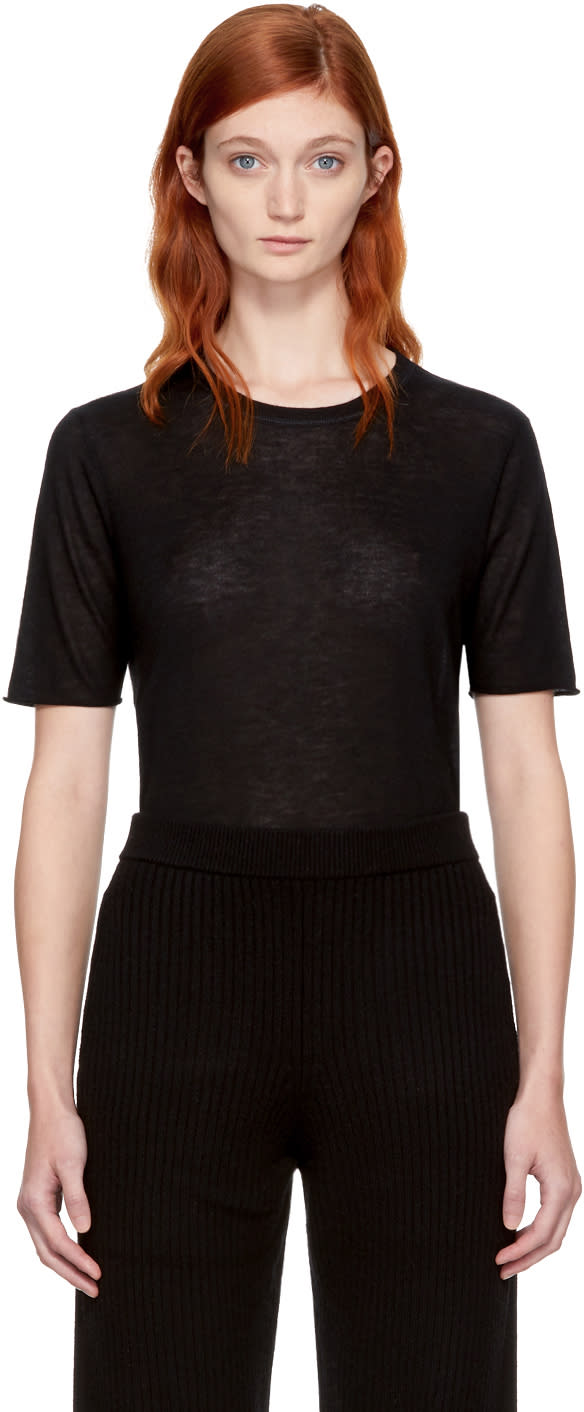 Image of Joseph Black Pure Cashmere T-shirt