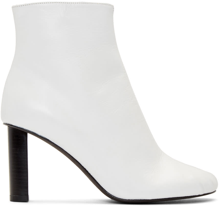 Joseph White Nappa Slim Boots
